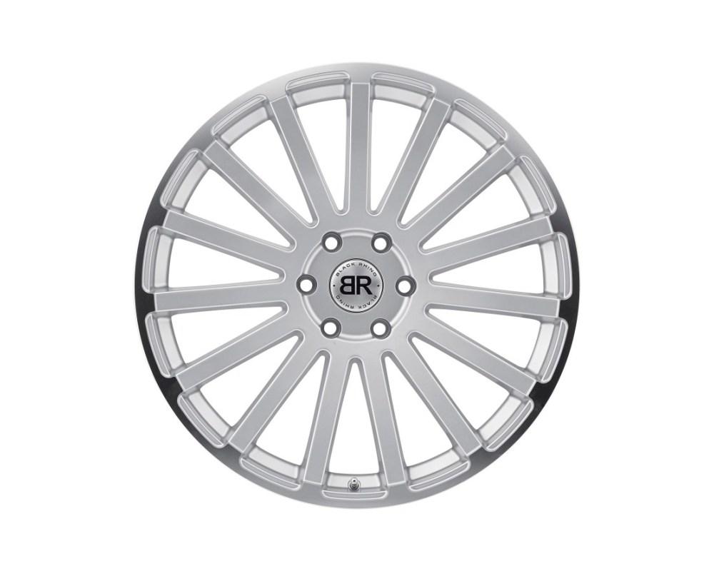 Black Rhino Spear Silver w/ Mirror Cut Lip Edge Wheel 22x9.5 6x139.70|6x5.5 25mm CB112