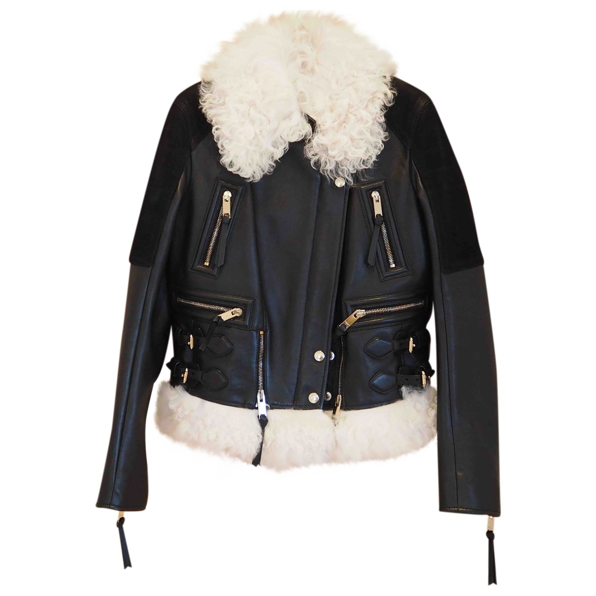 Burberry \N Black Leather jacket for Women 44 IT