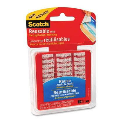 3M Scotch double face r eutilisable adh esifs de montage (Paquet de 18/06/72)