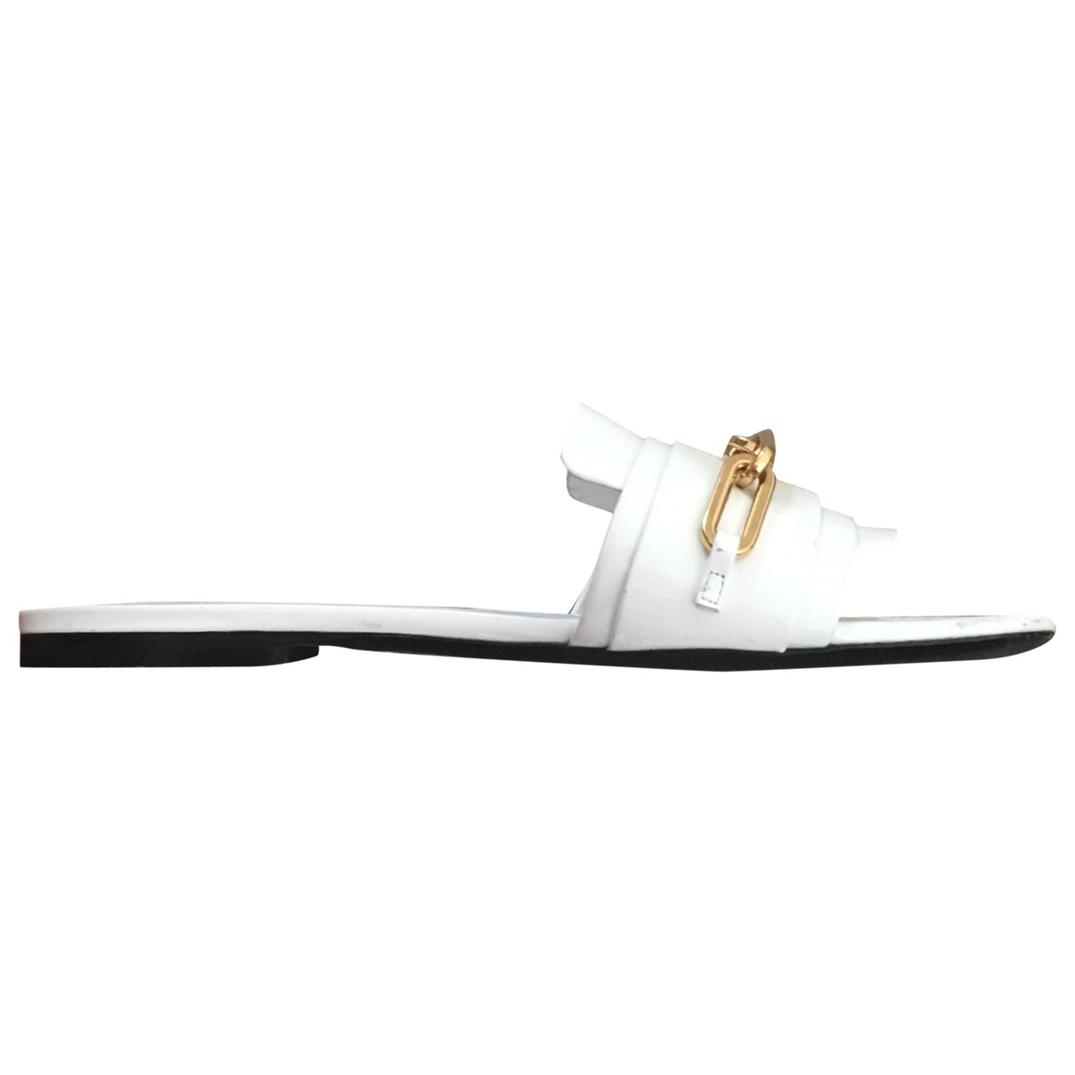 Burberry \N White Leather Sandals for Women 36.5 EU
