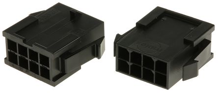 Molex , Micro-Fit 3.0 Male Connector Housing, 3mm Pitch, 8 Way, 2 Row (5)