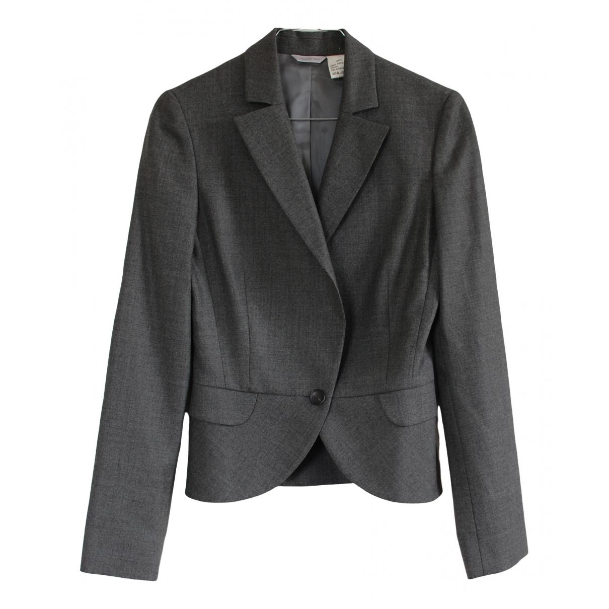 Barneys New York - Veste   pour femme en laine - gris