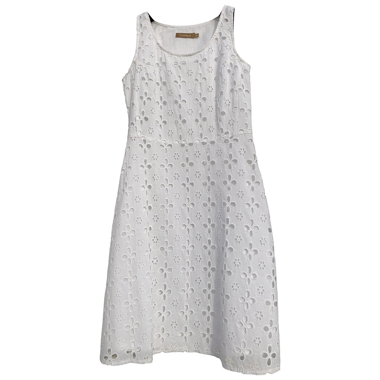 Non Signé / Unsigned \N White Cotton dress for Women 36 FR