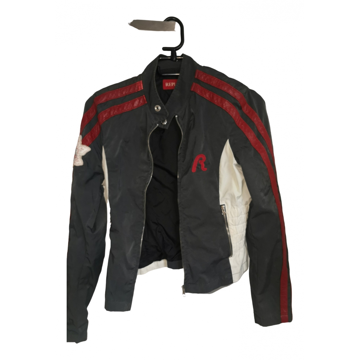 Replay \N Grey Leather jacket for Women 36 FR
