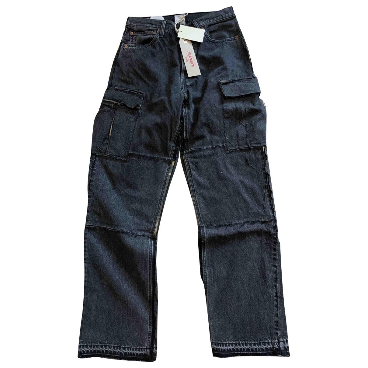 Vetements X Levi's \N Black Denim - Jeans Jeans for Women 38 FR