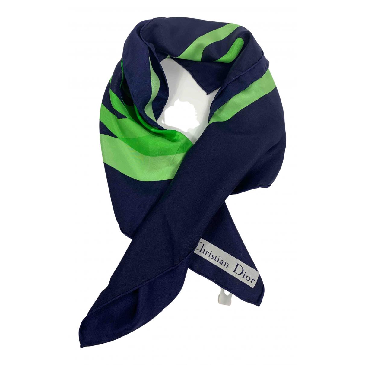 Dior N Navy Silk Silk handkerchief for Women N
