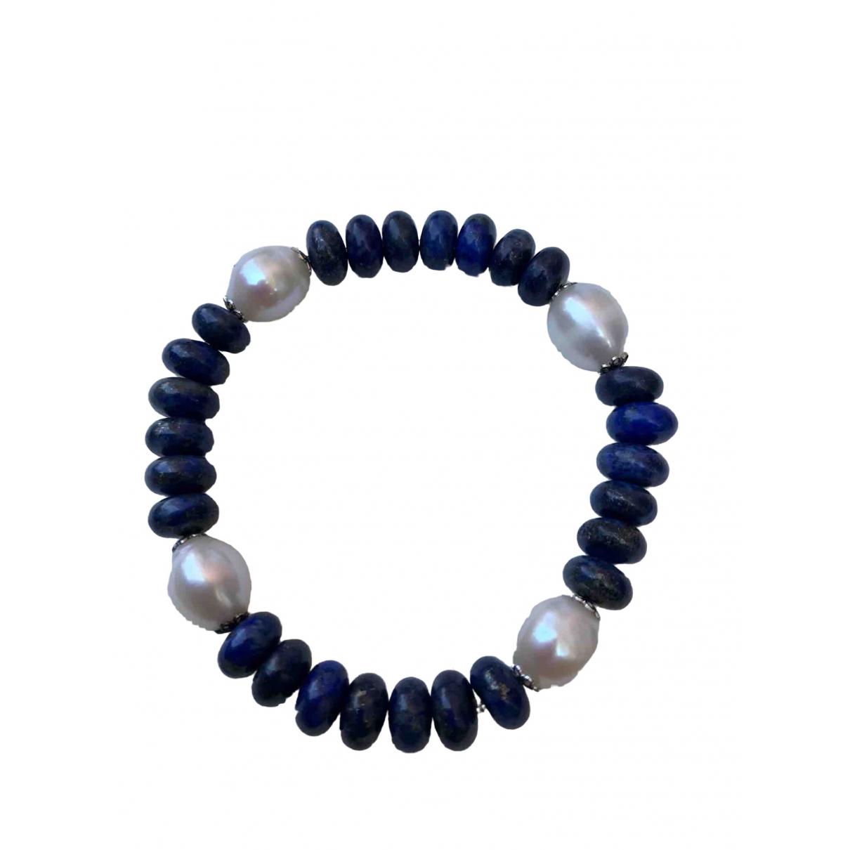 Pulsera Lapis lazuli de Perlas Non Signe / Unsigned