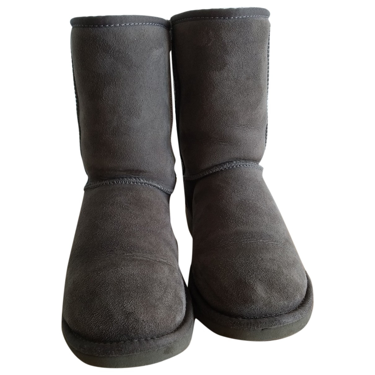 Ugg \N Grey Suede Ankle boots for Women 36 EU