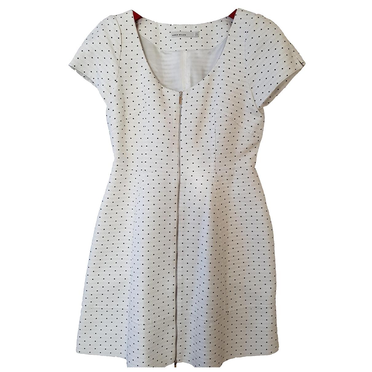 Karen Millen \N White Cotton dress for Women 12 UK