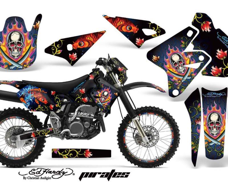 AMR Racing Graphics MX-NP-SUZ-DRZ400S-00-18-EDHP K Kit Decal Sticker Wrap + # Plates For Suzuki DRZ400S 2000-2018 EDHP BLACK