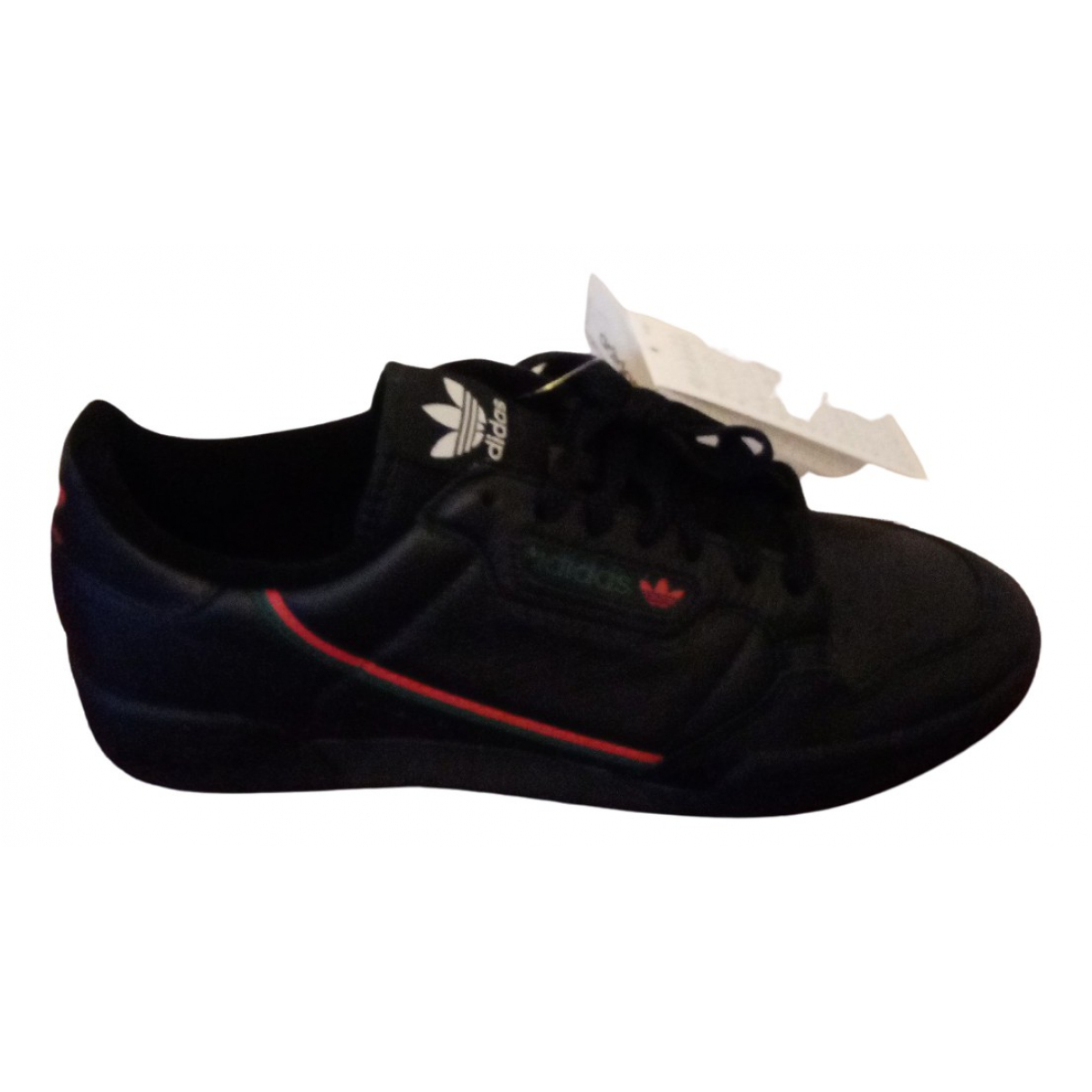 Adidas Continental 80 Black Leather Trainers for Men 8.5 UK