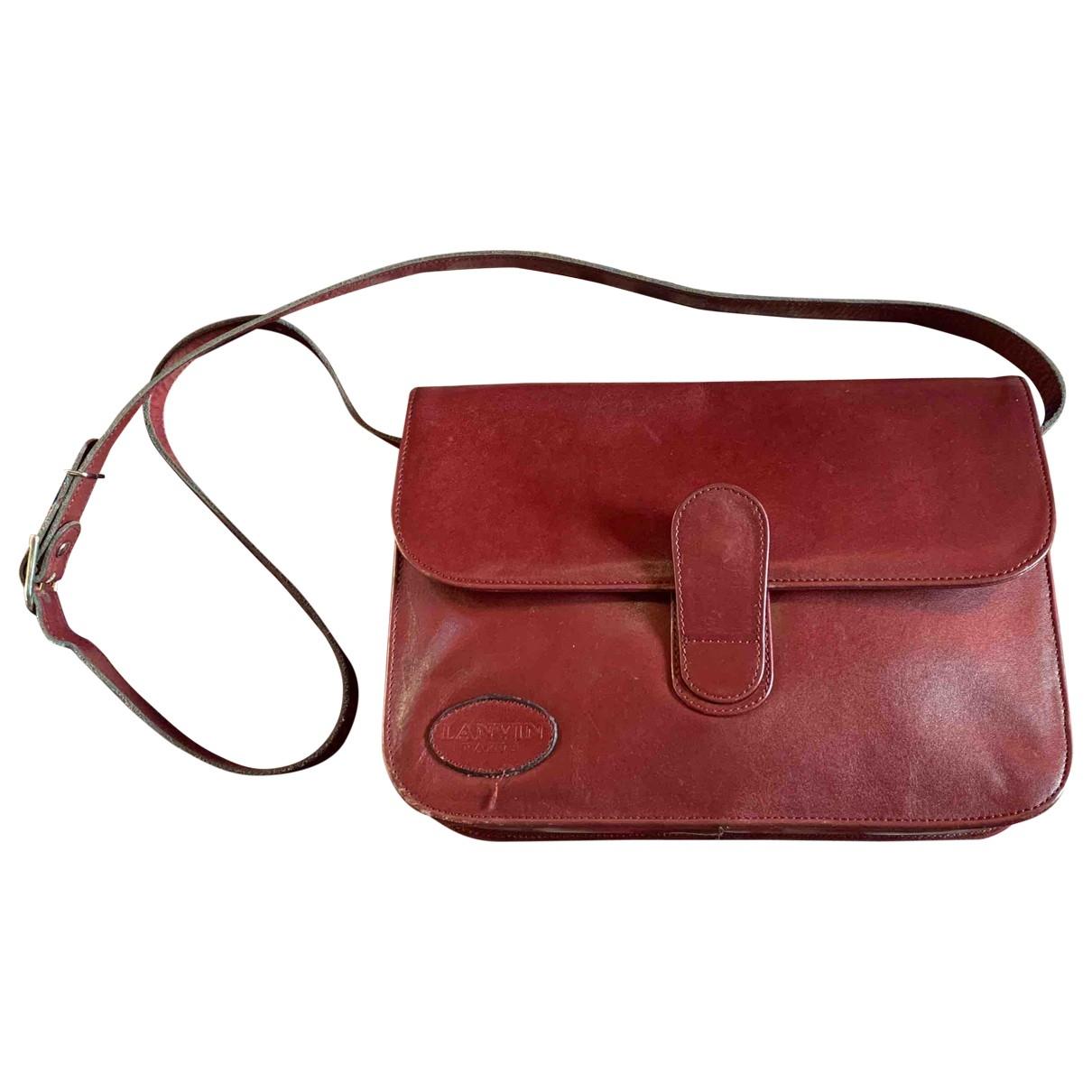 Lanvin \N Burgundy Leather handbag for Women \N