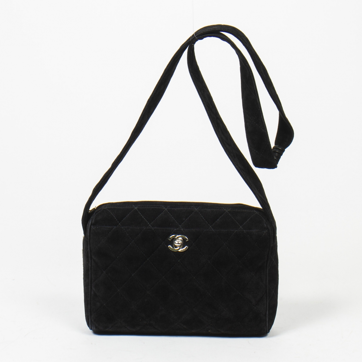 Chanel Camera Handtasche in  Schwarz Leder