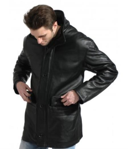 Black Pebble-grain Carcoat