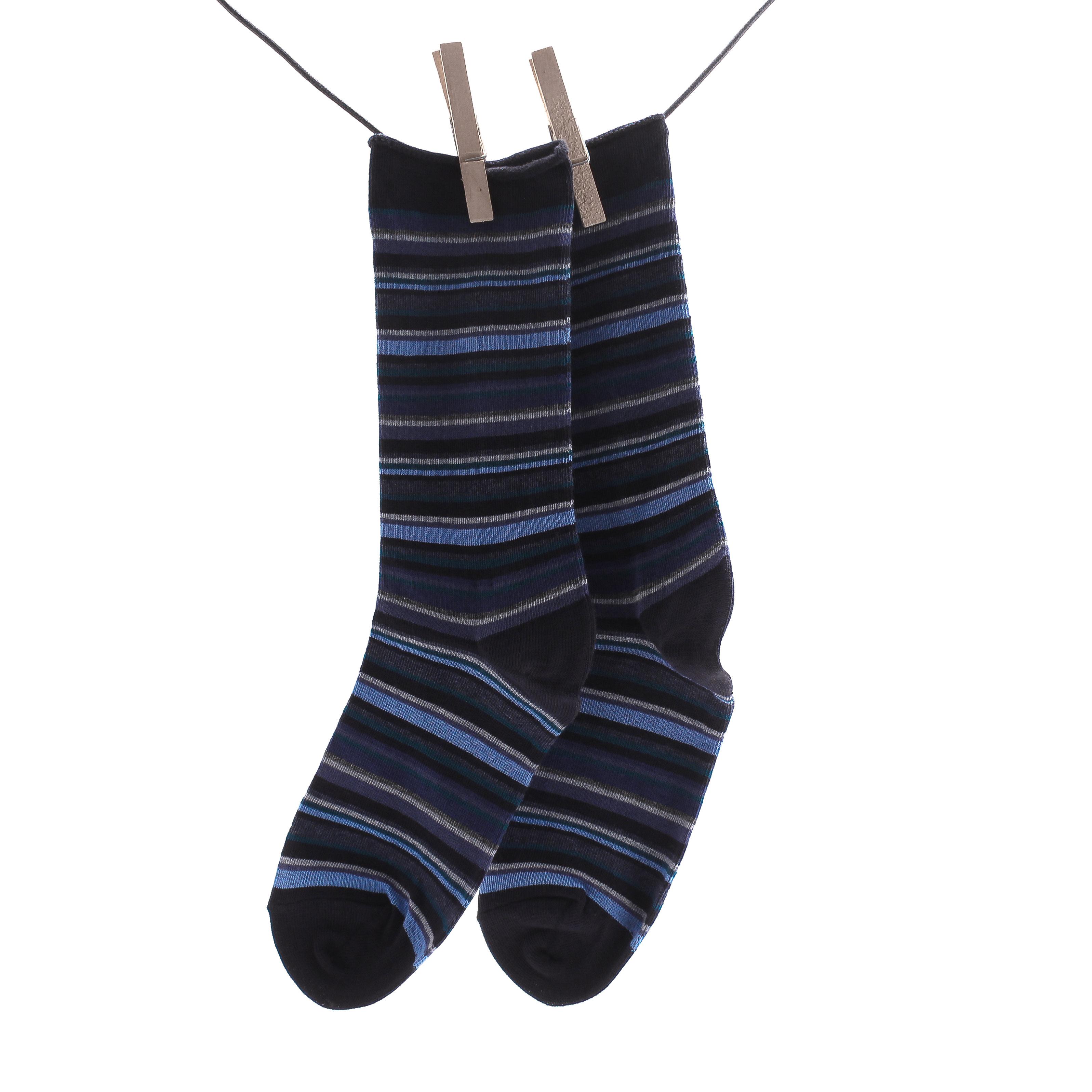 Crönert, 18231 Multicolor Women's Long Socks, dark blue Größe 35-38