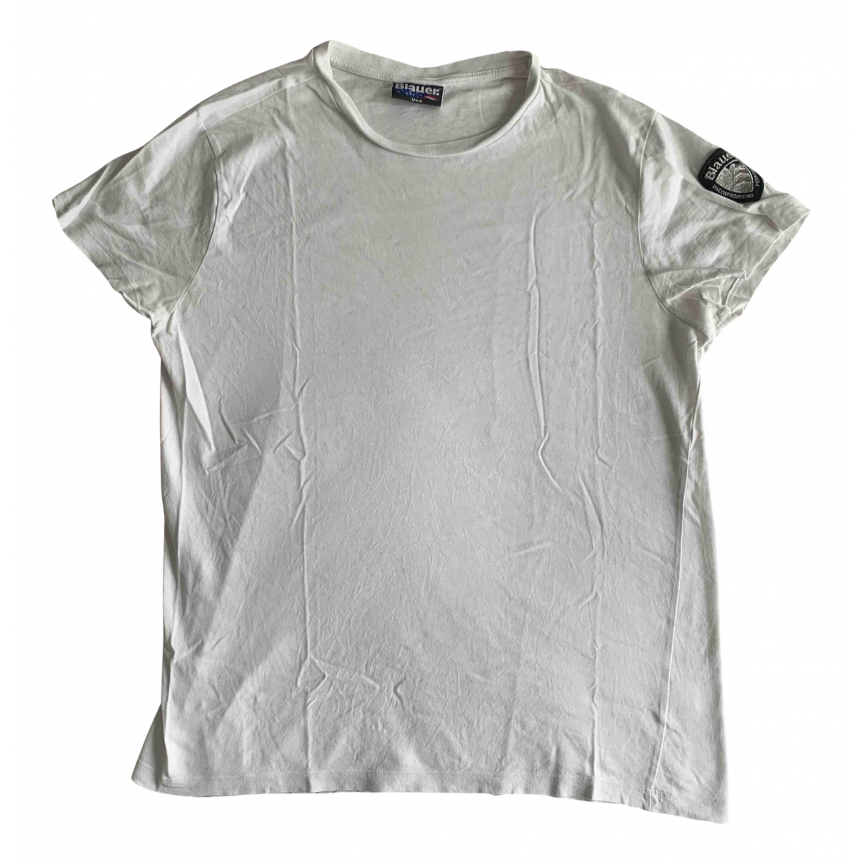 Blauer - Tee shirts   pour homme en coton - blanc