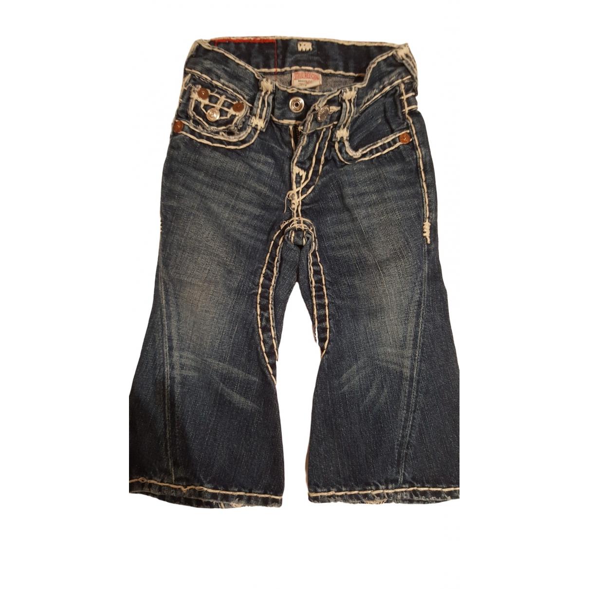 True Religion - Pantalon   pour enfant en coton - bleu