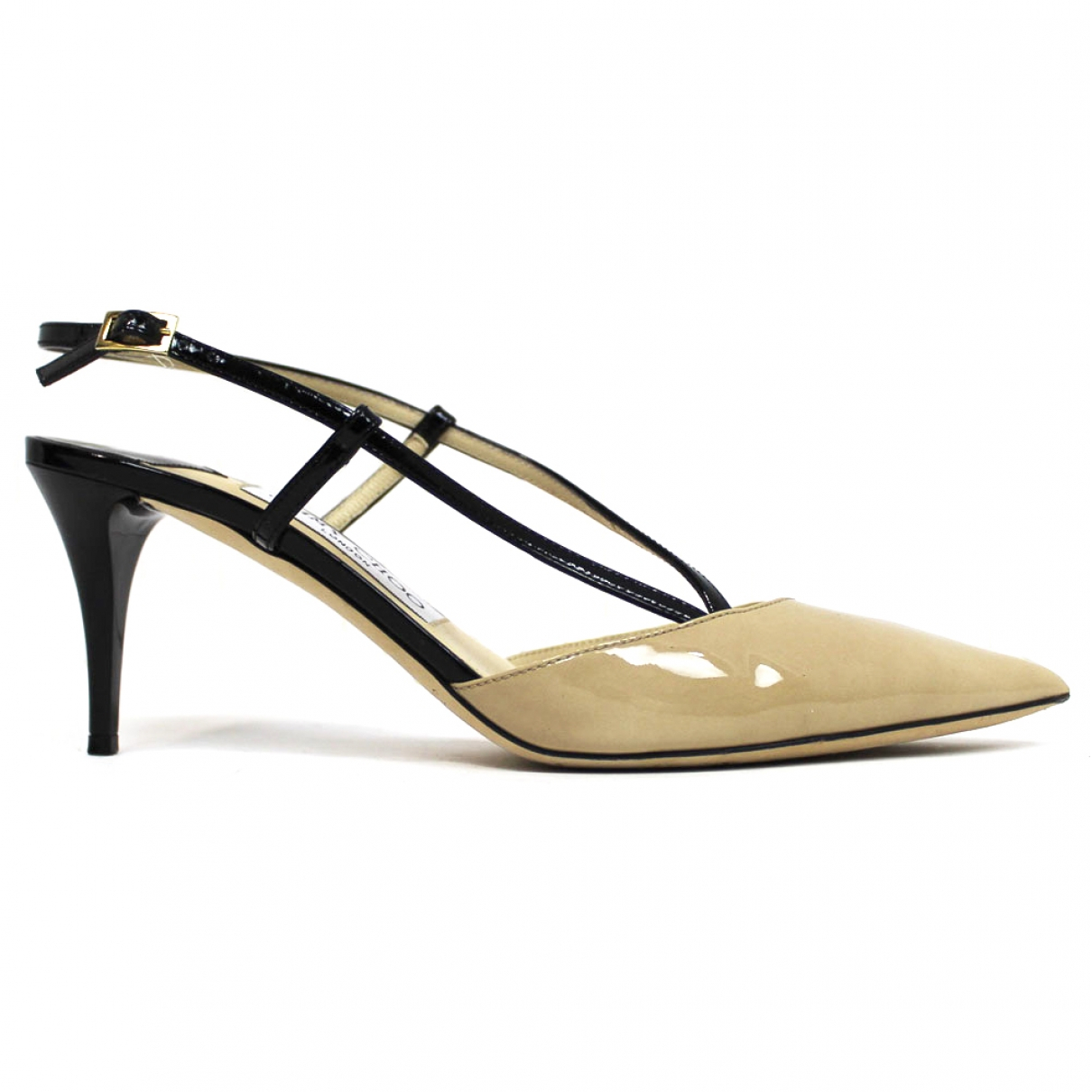 Jimmy Choo \N Black Patent leather Sandals for Women 38 EU