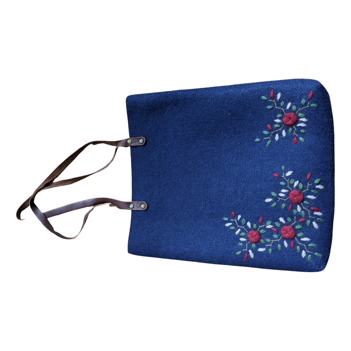 Non Signé / Unsigned Hippie Chic Navy Wool handbag for Women \N