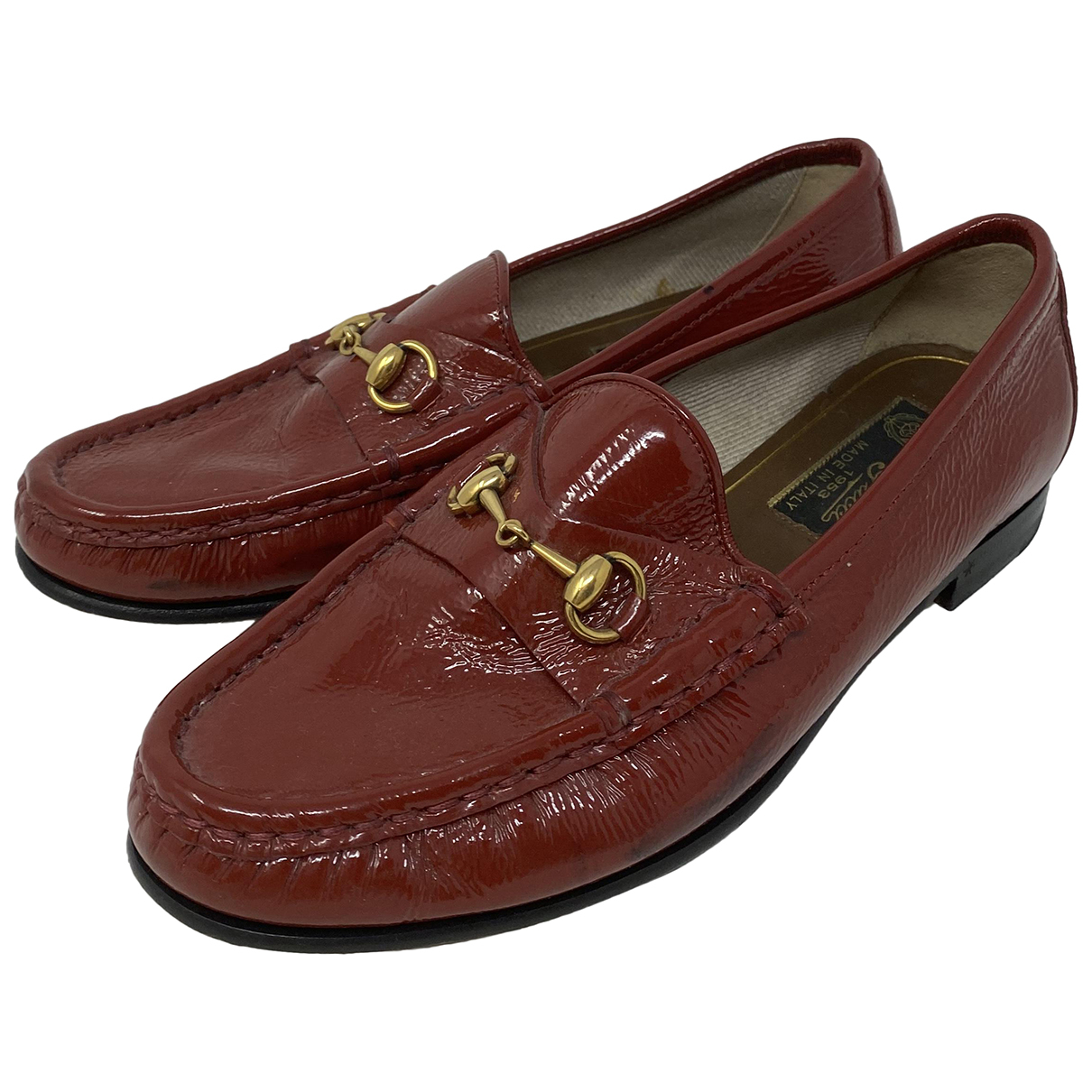 Gucci Brixton Red Patent leather Flats for Women 35.5 EU