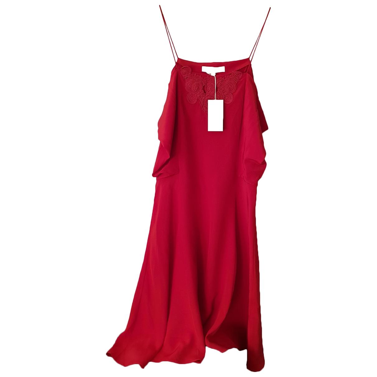 Vanessa Bruno \N Kleid in  Rot Seide