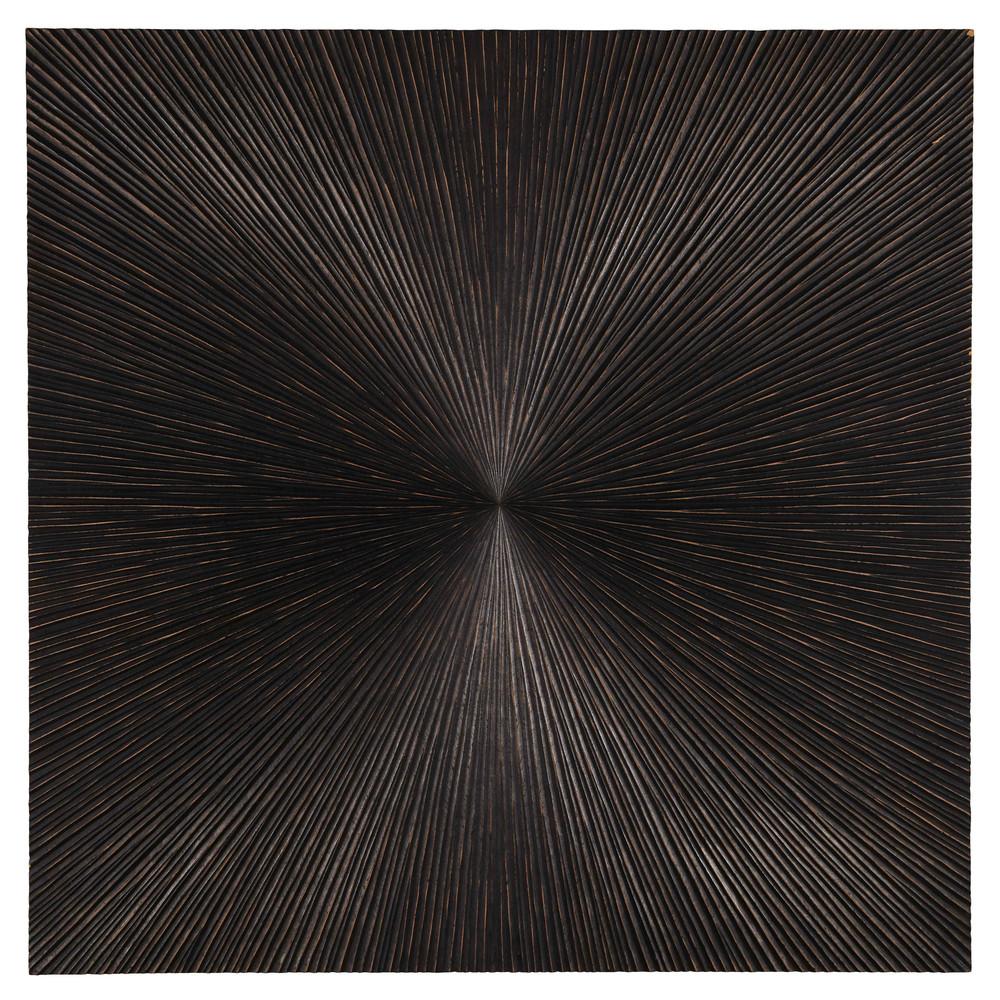 Wanddeko Holzimitation geschnitzt 120x120