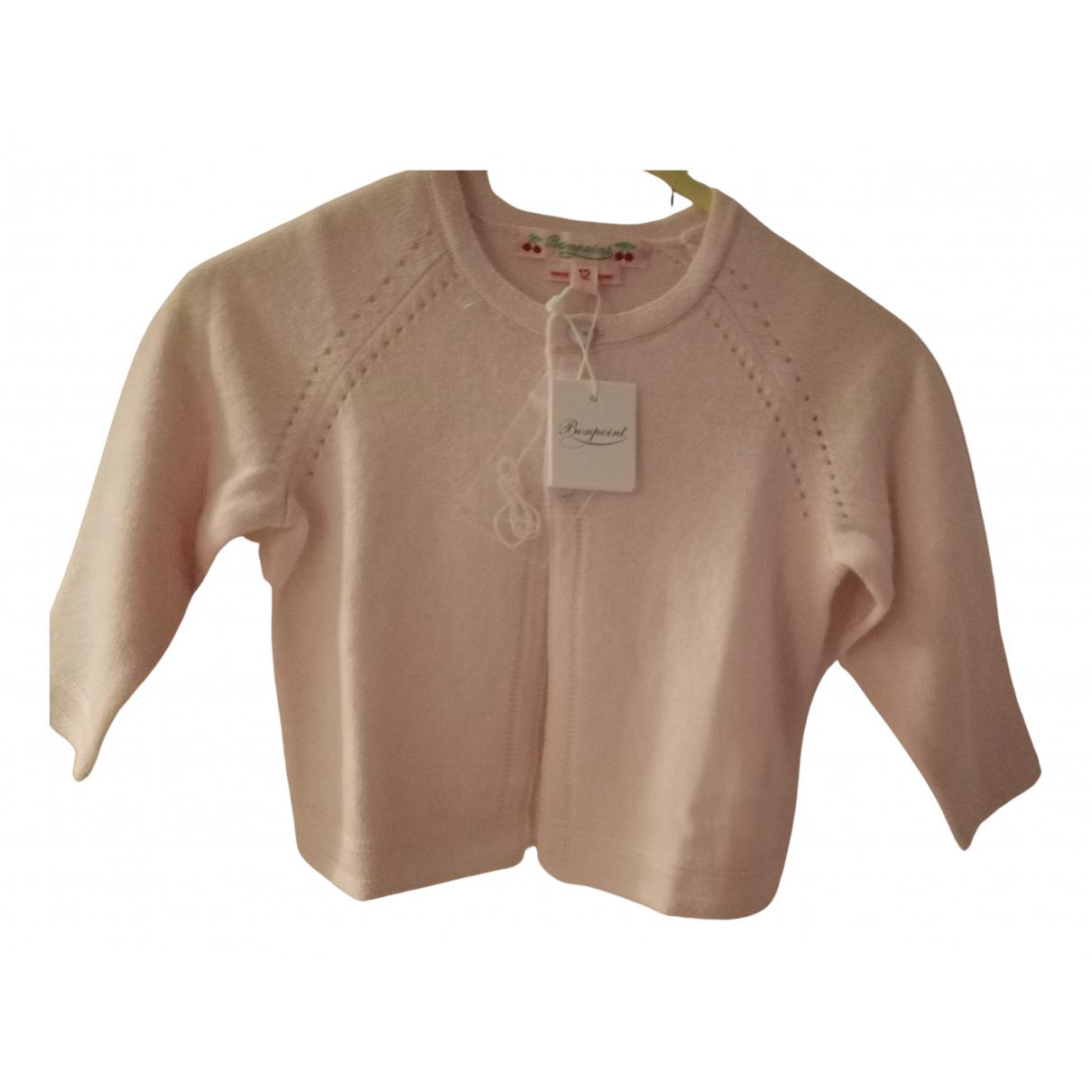 Bonpoint - Pull   pour enfant en cachemire - rose