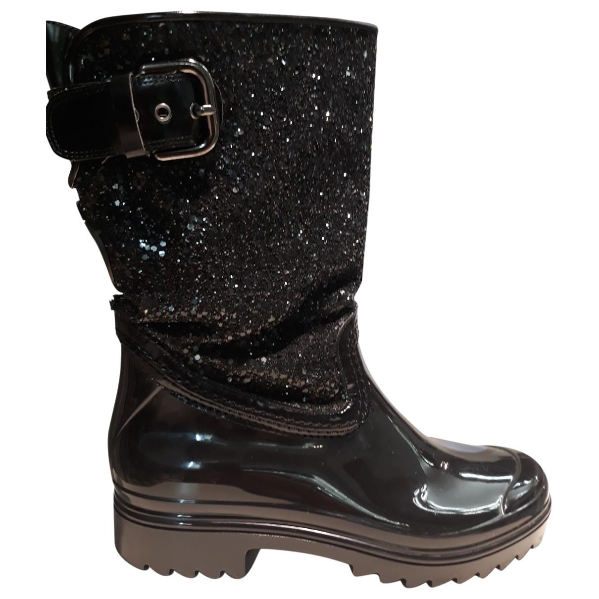 Stuart Weitzman \N Black Rubber Boots for Women 37 EU