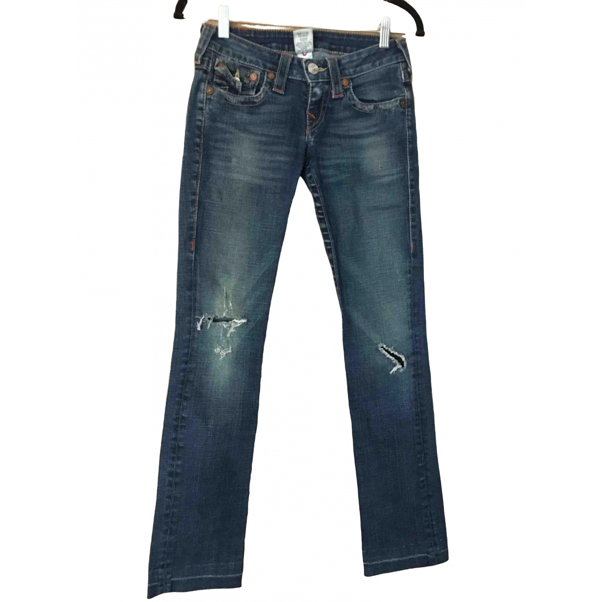 True Religion \N Blue Cotton Jeans for Women 26 US