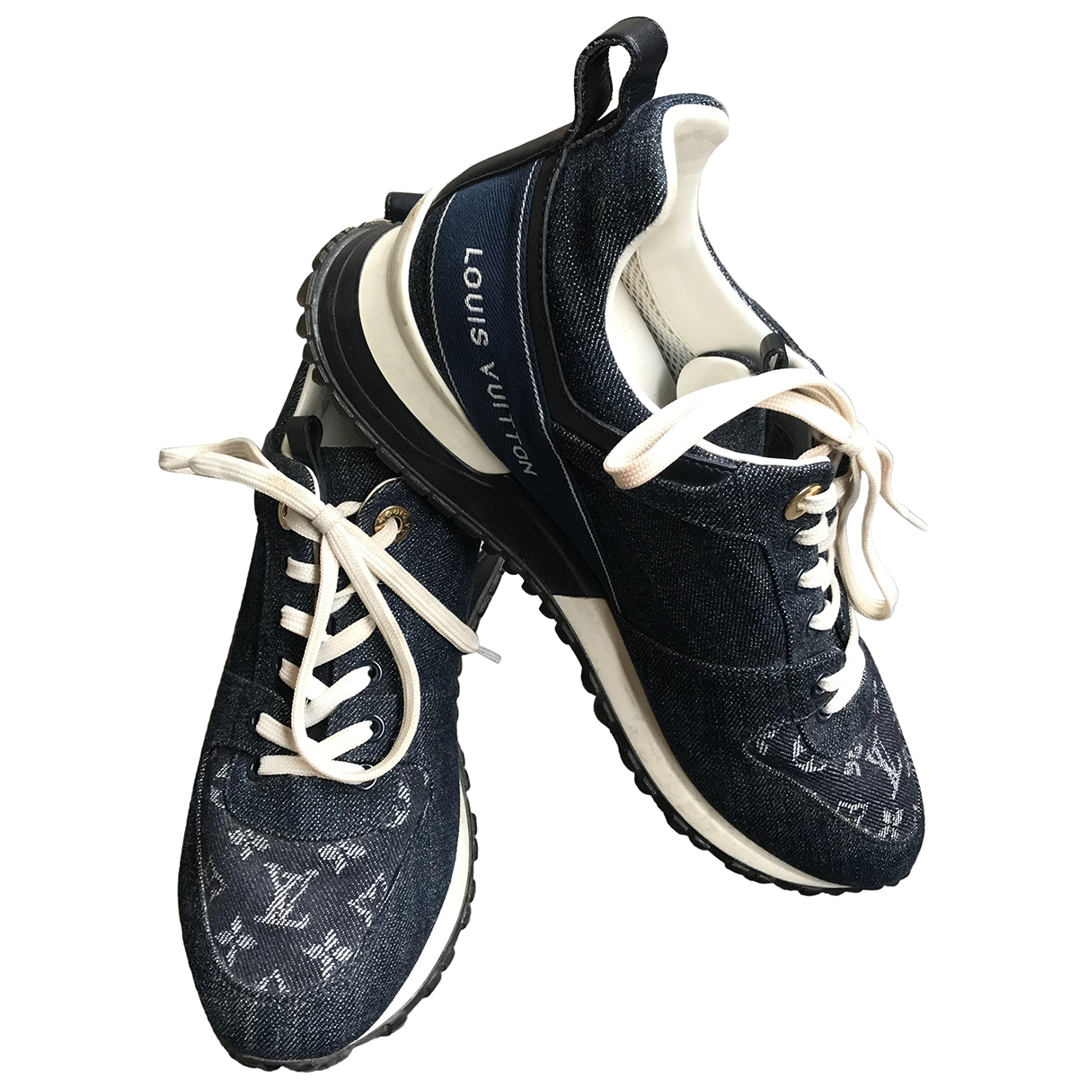 Louis Vuitton \N Blue Cloth Trainers for Women 38 EU