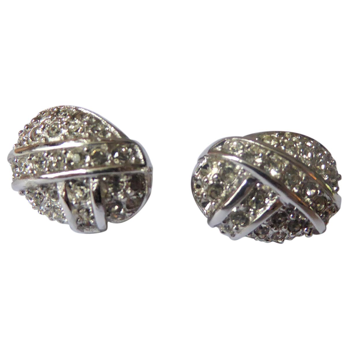 Dior \N OhrRing in  Silber Versilbert