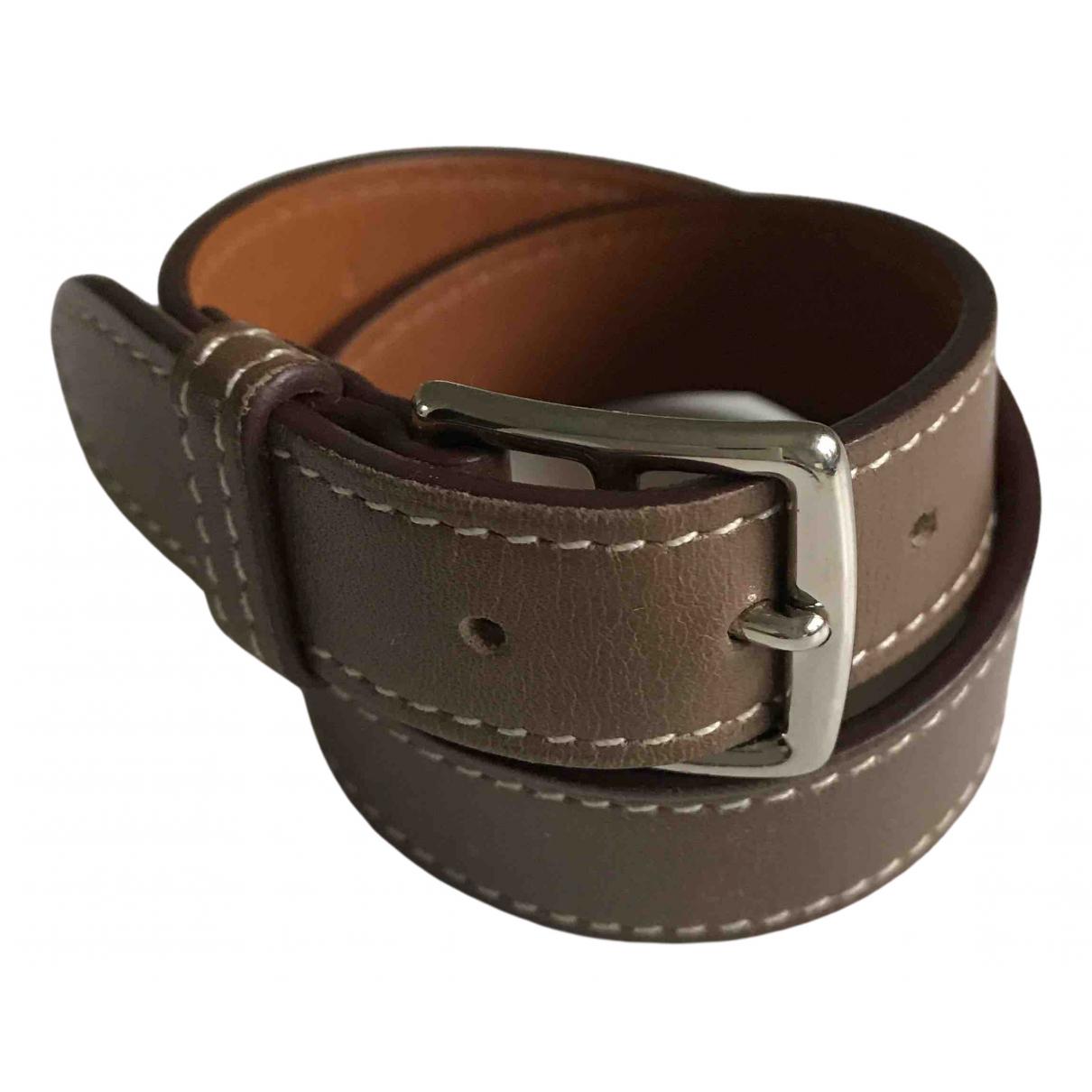 Hermes - Bracelet Etriviere pour femme en cuir - marron