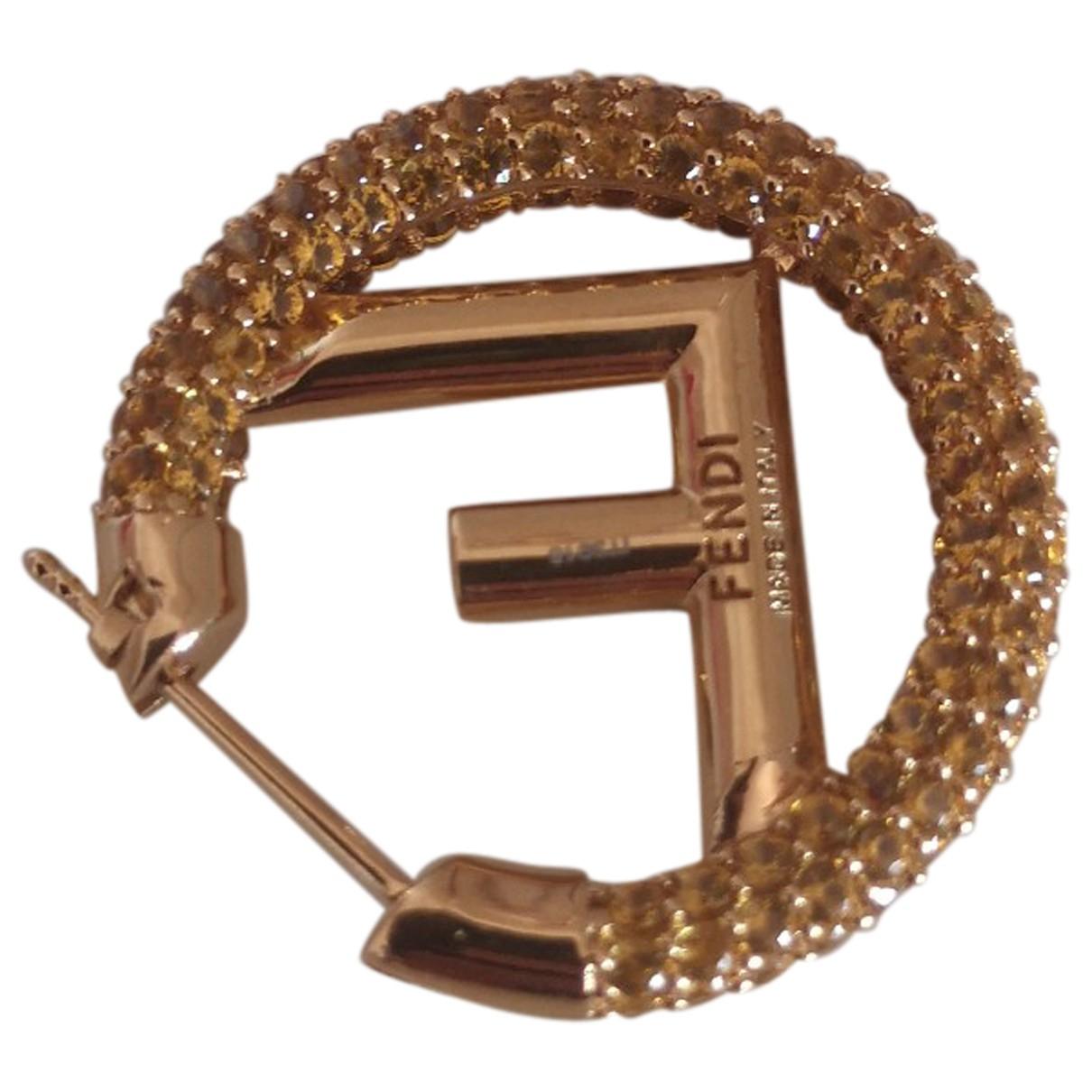 Fendi \N OhrRing in  Gold Metall