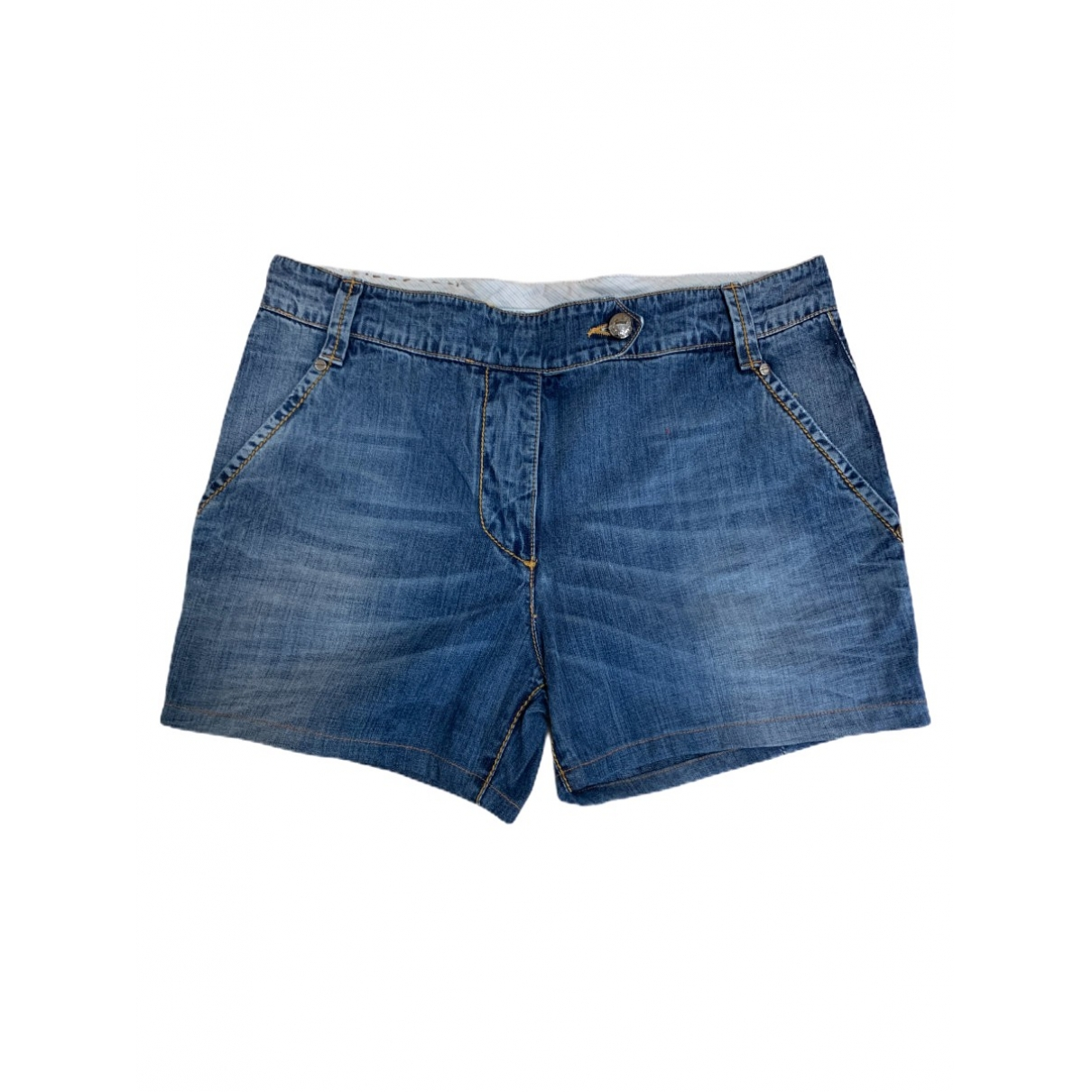 Ermanno Scervino \N Blue Denim - Jeans Shorts for Women 40 IT