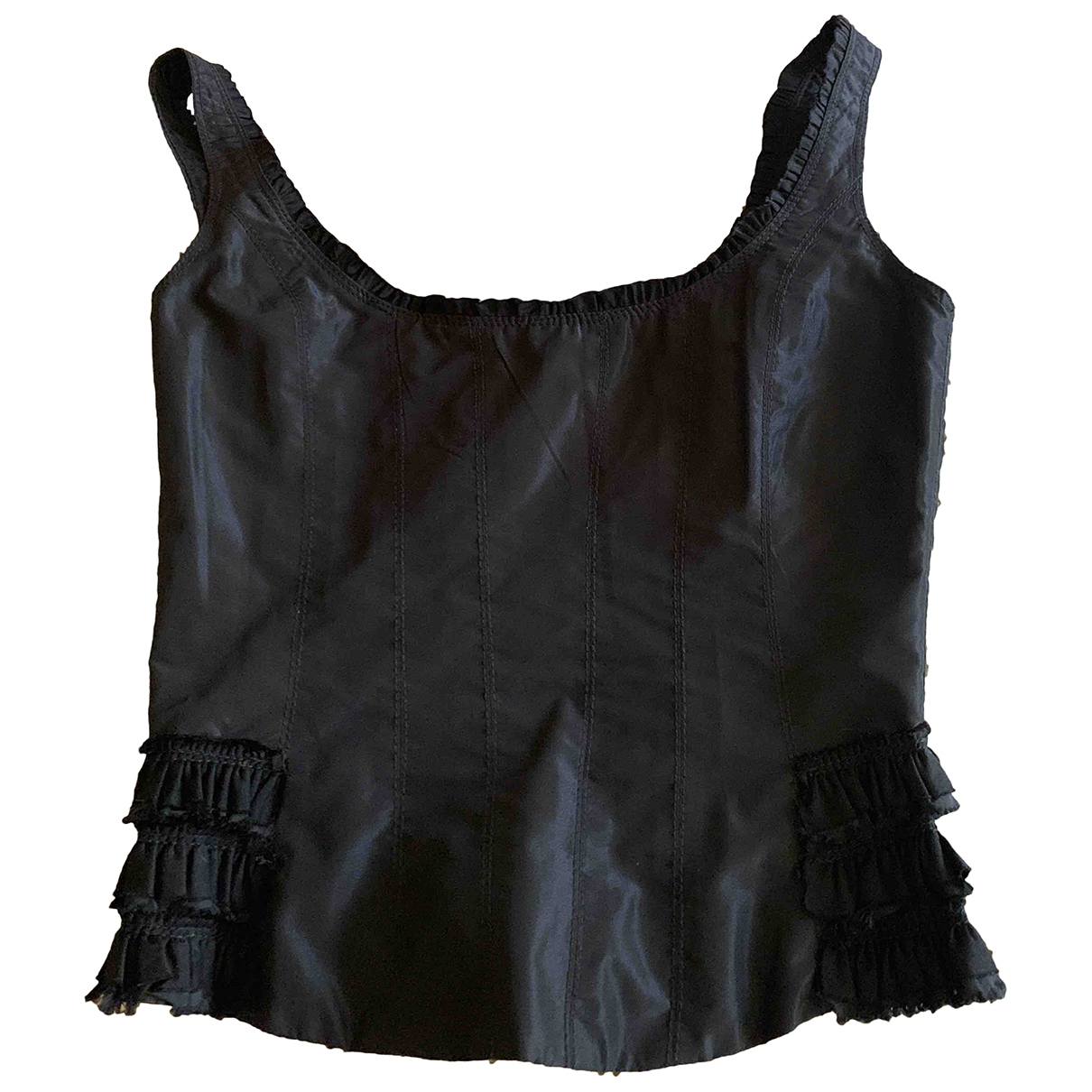 Non Signe / Unsigned \N Top in  Schwarz Polyester