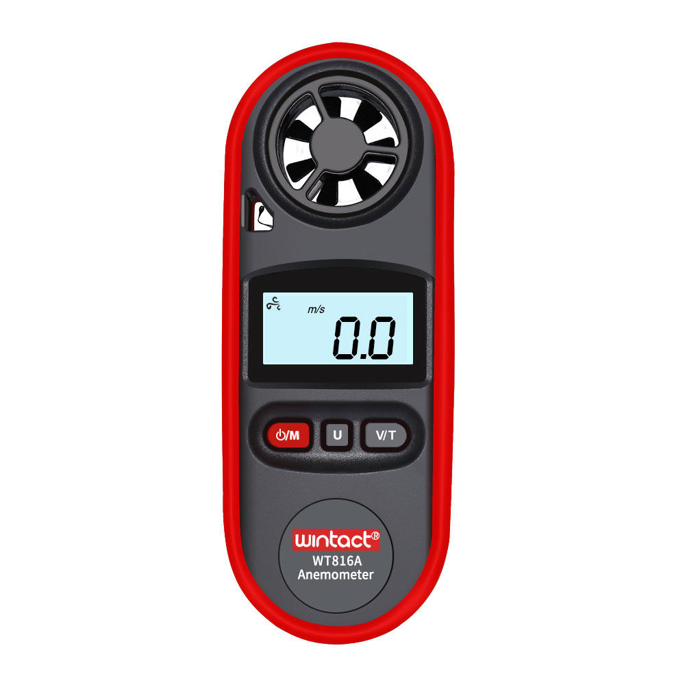 WT816A Wind Speed Meter IP67 Waterproof with Backlight Display Temperature Measurement Six Units of Air Velocity M/s Km/