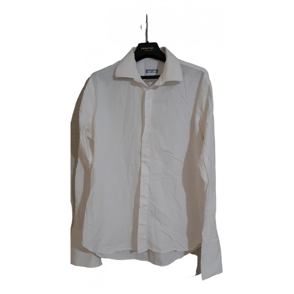 Yves Saint Laurent \N Hemden in  Weiss Baumwolle