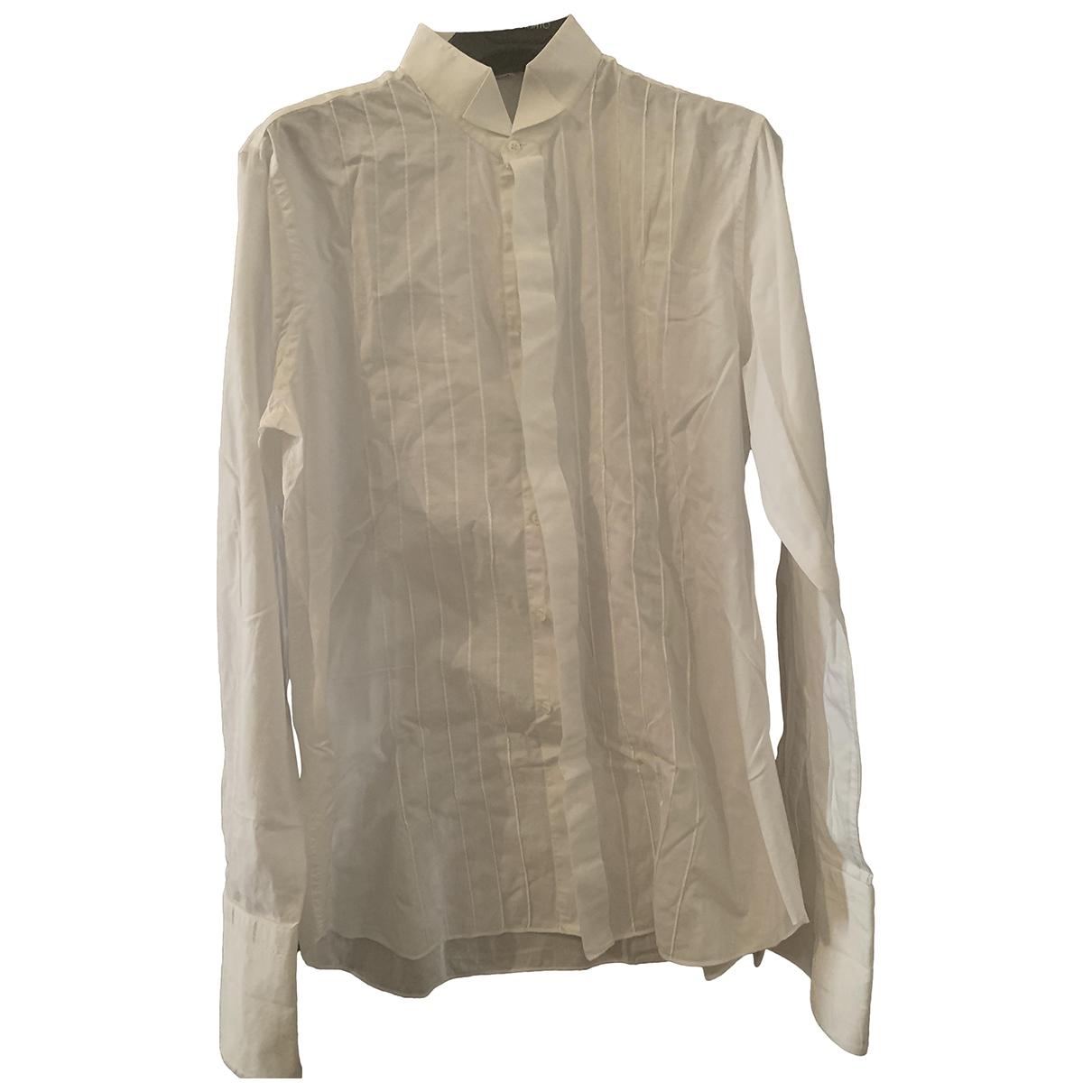 Non Signé / Unsigned \N White Cotton Shirts for Men 41 EU (tour de cou / collar)