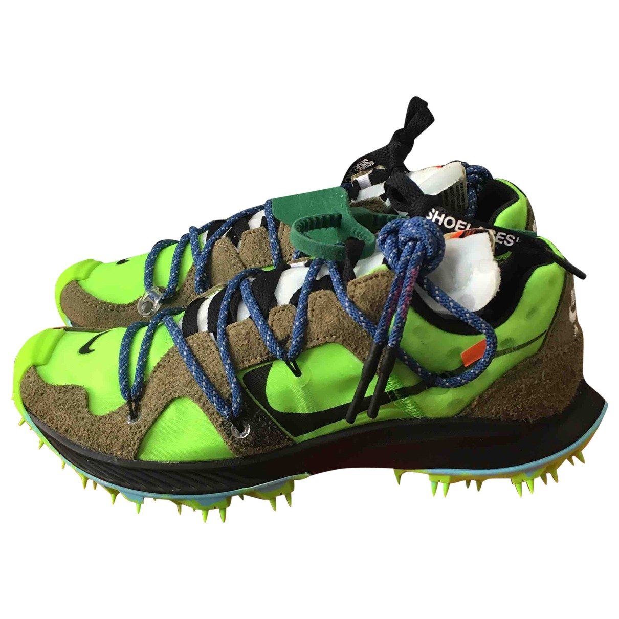 Nike X Off-white Zoom Terra Kiger 5 Sneakers in  Khaki Veloursleder