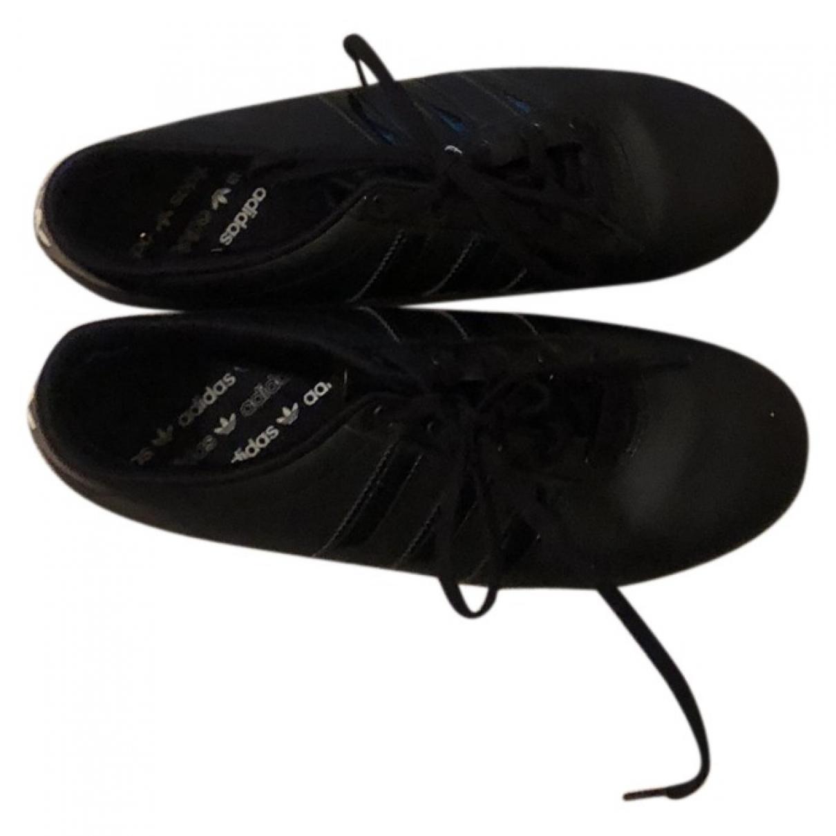 Adidas - Baskets   pour femme en cuir - noir