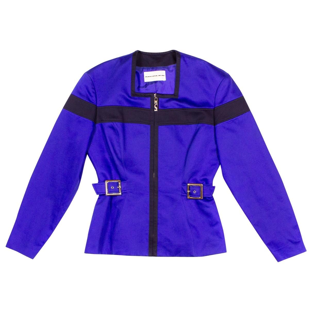 Mugler \N Navy Cotton jacket for Women M International