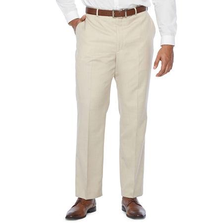 Stafford Super Stretch Classic Fit Suit Pants, 42 30, Beige