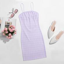 Plaid Print Bodycon Dress