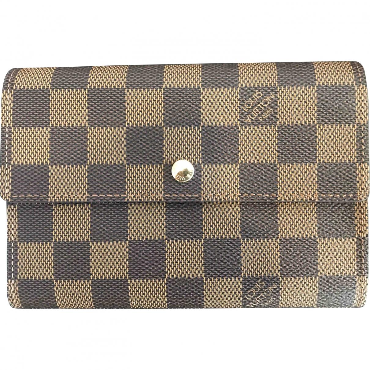 Louis Vuitton \N Brown Cloth wallet for Women \N