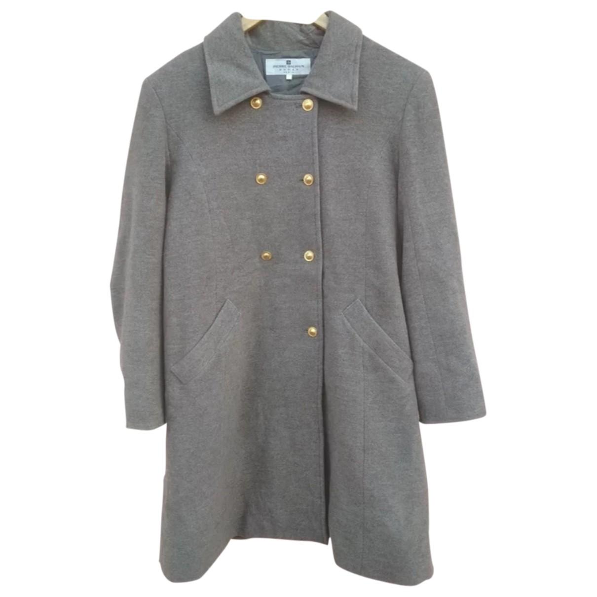 Pierre Balmain - Manteau   pour femme en laine - gris