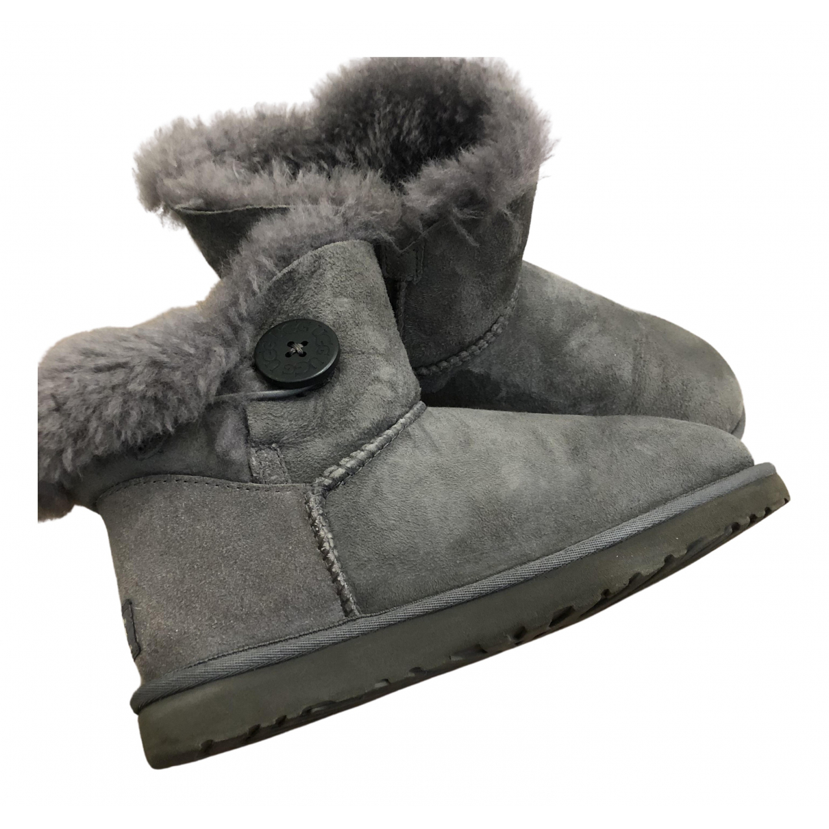 Ugg N Grey Fur Ankle boots for Women 39 EU