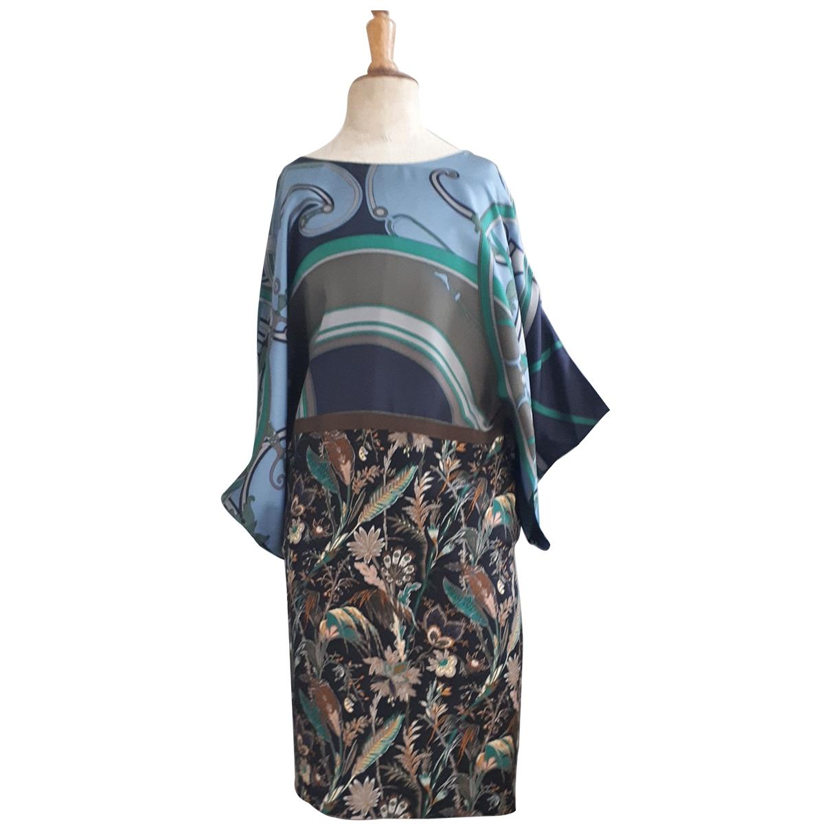 Hermes - Robe   pour femme en soie - multicolore