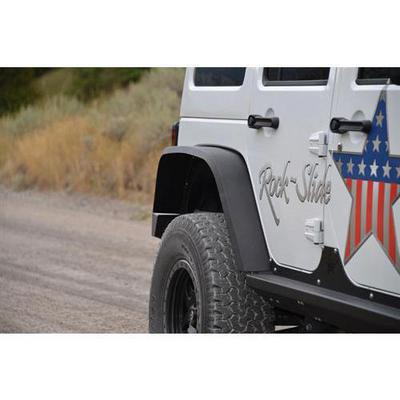 Rock-Slide Engineering Rear Fender Flares (Black) - AC-FF-100-R-JKA