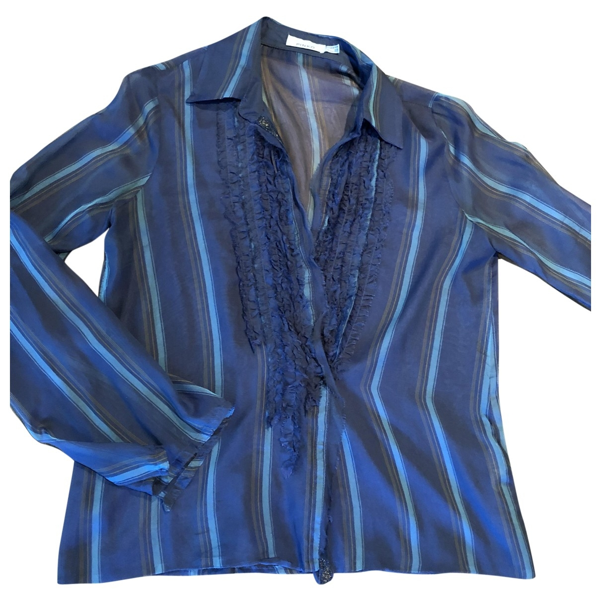 Pinko \N Blue Silk  top for Women 42 IT