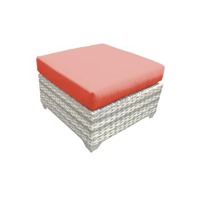 TKC045b-O-TANGERINE Fairmont Ottoman with 2 Covers: Beige and